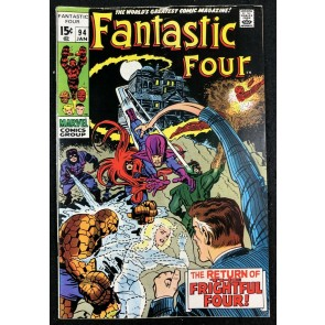 Fantastic Four (1961) #94 VG/FN (5.0) 1st App Agatha Harkness