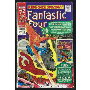 Fantastic Four Annual (1966) #4 FN+ (6.5) 1st SA app Golden Age Human Torch