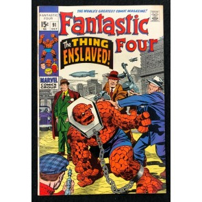 Fantastic Four (1961) #91 VF (8.0) Jack Kirby Cover Art