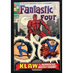 Fantastic Four (1961) #56 FN+ (6.5) Klaw Jack Kirby Cover & Art