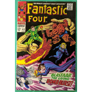 Fantastic Four (1961) #63 VF- (7.5) vs  Blastaar and Sandman