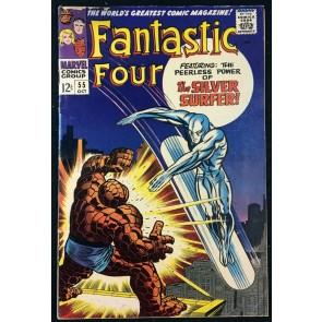 Fantastic Four (1961) #55 VG (4.0) classic Silver Surfer cover
