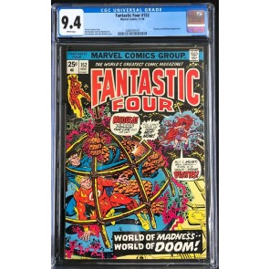 Fantastic Four (1961) #152 CGC 9.4 white pages Thundra Mahkizmo (2069187019)