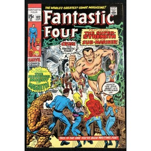 Fantastic Four (1961) #102 FN+ (6.5) vs Sub-Mariner