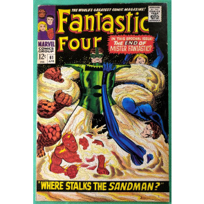 Fantastic Four (1961) 61 VF- (7.5) vs Sandman Silver Surfer cameo
