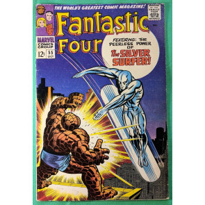 Fantastic Four (1961) #55 VG/FN (5.0) 4th app Silver Surfer classic cover