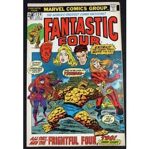 Fantastic Four (1961) #129 FN/VF (7.0) 1st App Thundra