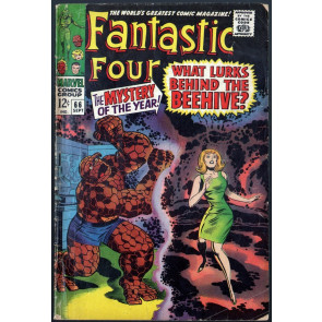 Fantastic Four (1961) #66 VG (4.0) part one of Warlock (Him) origin