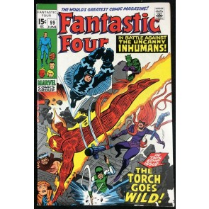 Fantastic Four (1961) #99 VF (8.0) Inhumans cover & Story