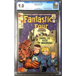 Fantastic Four (1961) #45 CGC 9.0 Off-White Pages 1st app Inhumans (2131987001)