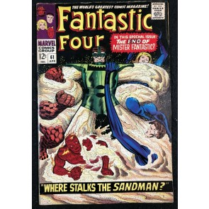 Fantastic Four (1961) #61 FN+ (6.5) Sandman Cover & Story Silver Surfer Cameo
