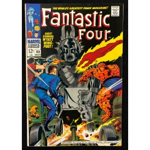 Fantastic Four (1961) #80 FN/VF (7.0) Jack Kirby Cover & Art