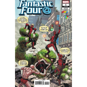 Fantastic Four (2018) #1 VF/NM-NM Deadpool Africa Comic Con Variant Cover