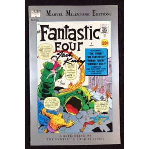 Fantastic Four (1991) #1 VF+ Milestone Edition signed by Jack Kirby with COA