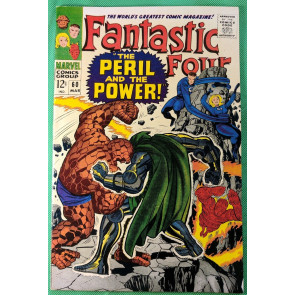 Fantastic Four (1961) 60 VF- (7.5) Dr Doom steals Silver Surfers powers part 4/4
