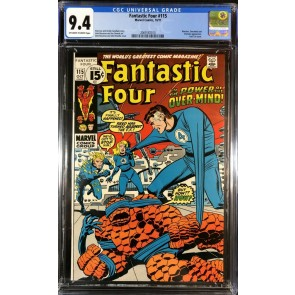 Fantastic Four (1961) #115 CGC 9.4 Off-White to White Pages (2069187010)