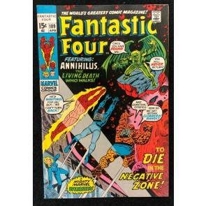 Fantastic Four (1961) #109 VF- (7.5) Annihilus John Buscema Cover & Art