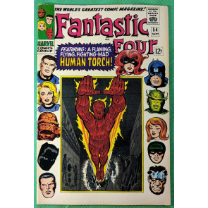Fantastic Four (1961) #54 VG+ (4.5)  Inhumans cover