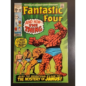 FANTASTIC FOUR #107 (1971) VFNM 9.0 1st JOHN BUSCEMA FF 1st JANUS CLASSIC COVER|