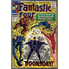 Fantastic Four (1961) #59 VF- vs Dr. Doom steals Silver Surfers powers part 3