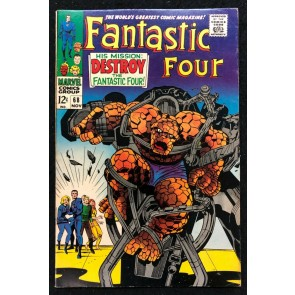 Fantastic Four (1961) #68 FN/VF (7.0) Jack Kirby Cover & Art