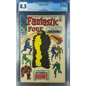 FANTASTIC FOUR 67 1967 1st App Him/Adam Warlock CGC 8.5 VF+ WHITE!  2061904005|