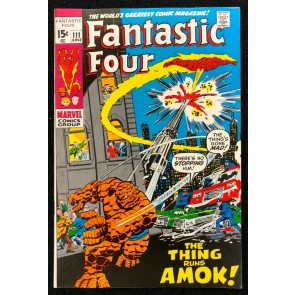 Fantastic Four (1961) #111 VF- (7.5) John Buscema Cover & Art