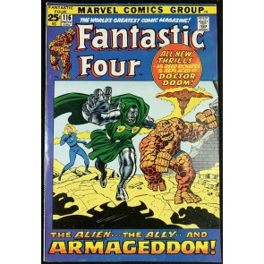 Fantastic Four (1961) #116 VF- (7.5) Dr Doom Cover Over-Mind Part 5
