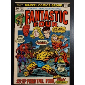 Fantastic Four (1961) #129 VG/FN (5.0) 1st APP THUNDRA PICTURE FRAME COVER |