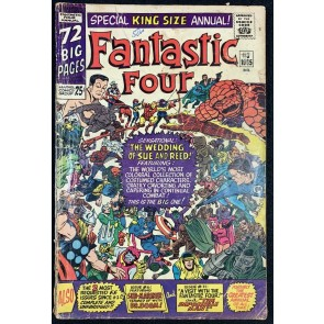 Fantastic Four (1961) Annual #3 GD- (1.8) Sue and Reed's Wedding