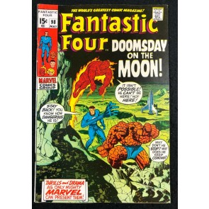 Fantastic Four (1961) #98 FN/VF (7.0) Neil Armstrong Moon Landing Issue