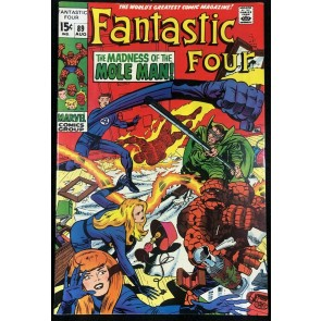 Fantastic Four (1961) #89 VF+ (8.5) Vs Mole Man