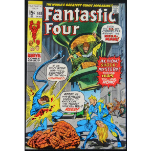 FANTASTIC FOUR #108 VF LAST JACK KIRBY ISSUE