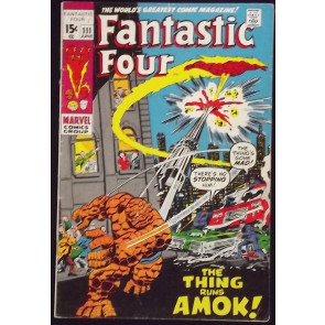 FANTASTIC FOUR #111 VG THING TORCH BATTLE COVER