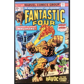 FANTASTIC FOUR #159 FN/VF INHUMANS COVER