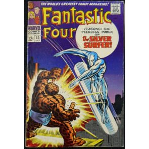 FANTASTIC FOUR #55 FN THING BATTLES SILVER SURFER