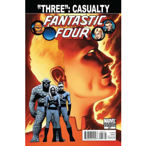 FANTASTIC FOUR #587 VF/NM SPOILER VARIANT COVER DEATH JOHNNY STORM
