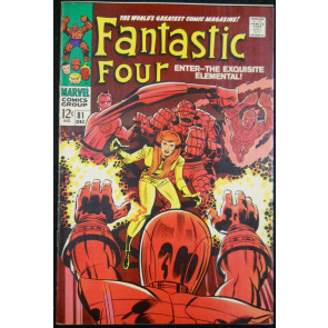 FANTASTIC FOUR #81 VF- CRYSTAL JOINS & DONS COSTUME