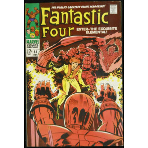 FANTASTIC FOUR #81 VF JACK KIRBY 1969