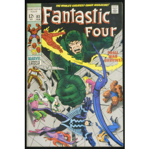 FANTASTIC FOUR #83 VF+ JACK KIRBY 1969