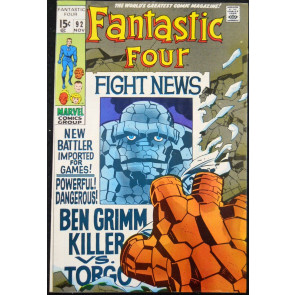 FANTASTIC FOUR #92 VF+