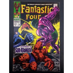 FANTASTIC FOUR #76, 77, 78, 79 SILVER SURFER APPEARANCES HIGH GRADE SET