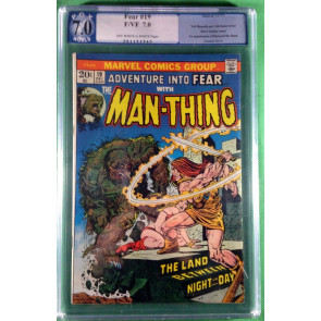 Fear (1970) #19 PGX 7.0 1st app Howard the Duck Man-Thing app and cover