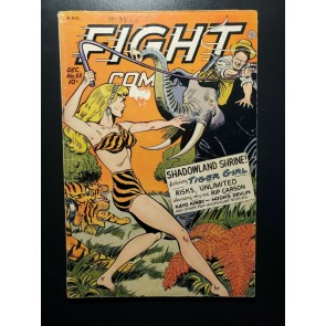 Fight Comics #53 (1947) Good+ (2.5) Fiction House, Jungle Girl Matt Baker art |