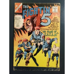 Fightin' Five #38-1966 G/VG 3.0 Fighting 5 / Plans of SATAN S.A.T.A.N. Charlton|
