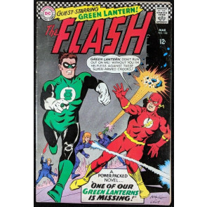 FLASH (1959) #168 FN- (5.5) Green Lantern cover