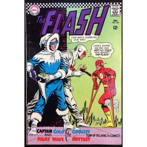 FLASH (1959) #166 FN- (5.5) vs Captain Cold & Heat Wave