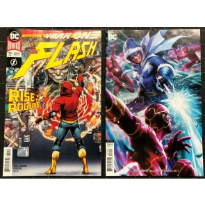 Flash (2016) #72 NM (9.4) regular & variant cover set Year One part 3