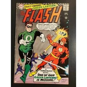 Flash Comics #168 (1967) VF- (7.5) Green Lantern crossover cover/story 