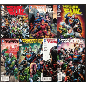 Forever Evil (2013) #1-7 four complete sets + tie in's lot of 41 Justice League
